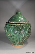 Antique Large Chinese Song / Yuan Dynasty Glazed Buddhist Jar