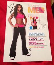 MEL B SIGNED TOTALLY FIT LEAFLET 100% GENUINE THE X FACTOR SPICE GIRLS