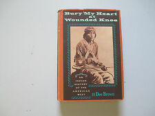 BURY MY HEART AT WOUNDED KNEE-DEE BROWN-2ND ED. 1971-HARDCOVER