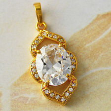 18k Yellow Gold Plated womens fashion Crystal crystal stone pendant