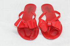 Valentino Couture Bow Thong Sandal Flip Flop Jelly Flat PVC Red 36 / 6US (S55)