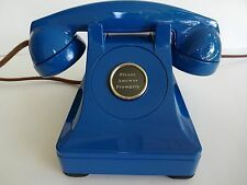 Antique Western Electric 302 Blue Clear Plungers Prewar  telephone   Working