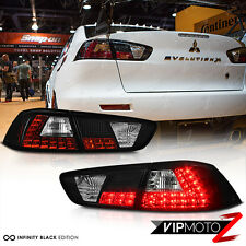 2008-2017 Mitsubishi Lancer Evolution Evo X 4B11 GSR MR Black LED Taillight Lamp