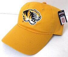 New MISSOURI TIGERS HAT Men/Women Relaxed-Fit/Dad-Cap Snapback Yellow Mizzou NWT