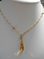 585 goldfilled-Kette mit herrlichem Kristall