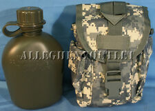 2 Pc 1 QUART CANTEEN KIT SET w 1QT ACU Digital MOLLE COVER & USGI CANTEEN NEW