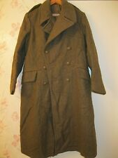 British WW2 Korea Era Original Khaki Heavy Wool Overcoat Sz 5 Dated 1945 MINT