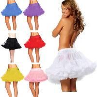 2 Layer Short Mini Tulle Skirt UnderSkirt Slips Crinoline Petticoat Dress 99A