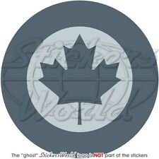 "CANADA Canadian Air Force LowVis Aircraft Roundel 100mm (4"") Vinyl Sticker Decal"