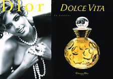 PUBLICITE ADVERTISING 045  1996  DOLCE VITA  D. ISSERMANN  ( 2p)  DIOR
