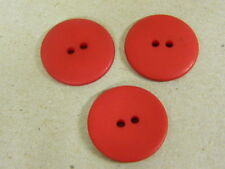 25 NEW 1 INCH DULL FINISH ATOM RED BUTTONS # 261CD36 -  4
