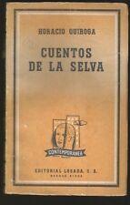 Horacio Quiroga Book Cuentos De La Selva 1965 Ed Losada
