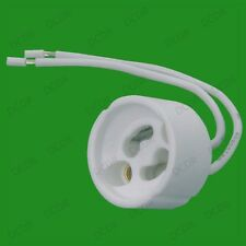 500x GU10 Ceramic Sockets, Halogen, LED Bulb Lamp Holder Down Light Fitting Base