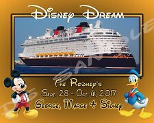 8x10 CUSTOM Cruise Door Magnet - DISNEY DREAM / FANTASY / MAGIC / WONDER