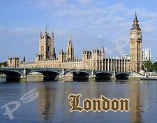 England London PARLIAMENT BIG BEN - Travel Souvenir Flexible Fridge Magnet