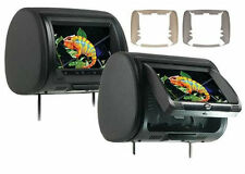 """Concept Pair CLD-903 9"""" Headrest Monitors w/ Built in DVD HD Input New CLD903 x2"""