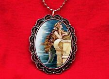 MERMAID PIN UP GIRL FISH VINTAGE PENDANT NECKLACE