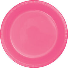 """20 Candy Pink Wedding Birthday Party Tableware 9"""" Plastic Lunch Plates"""