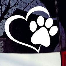 Pet Paw Print With Heart Dog Cat Vinyl Decal Car Window Bumper Sticker