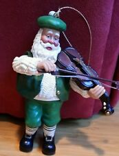 CLOTHIQUE POSSIBLE DREAMS IRISH SANTA WITH VIOLIN ORNAMENT 2000