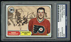 Bernie Parent #89 signed autograph auto 1968 Topps Hockey Card PSA Slabbed