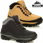MENS GROUNDWORK LEATHER SAFETY WORK BOOTS STEEL TOE CAP SHOES TRAINERS HIKER SZ