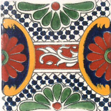 90 MEXICAN CERAMIC TILES WALL OR FLOOR USE CLAY TALAVERA MEXICO POTTERY #C046