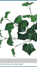 Green Ivy Bush Artificial Plant Greenery Spray Fake Leaves Buttonholes Craft