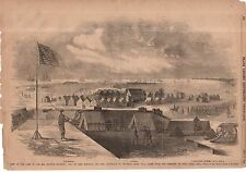 1861 Leslie's - November 9-20th Indiana Regiment off Fort Hatteras NC;Fort Clark