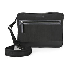 Montblanc Meisterstuck Black Canvas Messenger Bag 107632