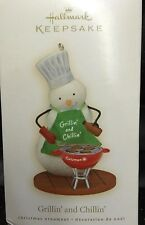 NIB 2008 GRILLIN' AND CHILLIN' SNOWMAN HALLMARK KEEPSAKE CHRISTMAS ORNAMENT NEW