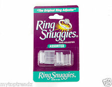 Ring Snuggies - Assorted Size Pack Of 6 -Plastic Adjuster Ring Size Reducer Clip