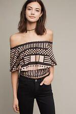 Anthropologie  Lola Off-The-Shoulder Flounce Top NWT new size M  ~$148
