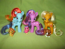 G4 My Little Pony 2010 TWILIGHT SPARKLE APPLEJACK RAINBOW DASH &Pets 1st w/BANGS