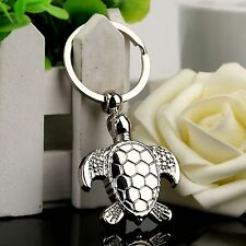 Silvery Sea Turtle Pendent Keychain Cute Animal Keyring Keyfob Holder Toy Gift