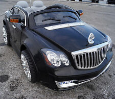 MAYBACH STYLE RIDE ON ELECTRIC TOY CAR 12 VOLTS BATTERY REMOTE CONTROL BLACK