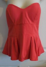 NWT Bebe red peplum top size large