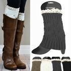 New Women Basic Crochet Knit Boot toppers Cuffs Leg Warmers Socks Knee warm Lace