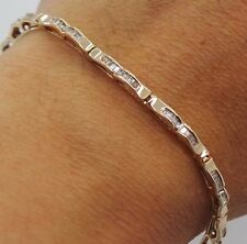 "STUNNING 10K YG LADIES DIAMOND TENNIS BRACELET 7.25"" LONG 1.30 CARAT TW AI-325"