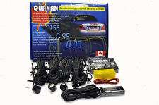 QUANAN 8M REVERSE PARKING SENSORS BUZZER LED KIT FOR METAL BUMPERS