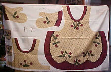 Full Fabric Apron Panel Sewing Craft Leslie Beck Holiday Christmas Oven Mitts