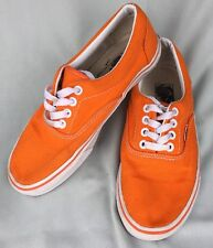 RARE VANS VTG Made In USA Orange Canvas Shoes Men Size 5 OR W 7 Sneakers