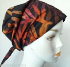 Chemo Cancer Hat Hair Loss Scarves Turban Head Wrap Alopecia Hand Dyed Batik