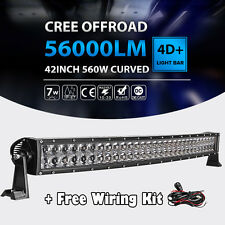 "42""INCH 560W CURVED LED LIGHT BAR SPOT FLOOD OFFROAD FIT FOR DODGE RAM 1500 2500"