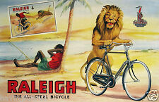 Raleigh Vintage Bicycle Ad England 1950s 11 x 17 Giclee print