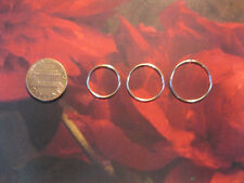 Gold Set: 3 20g  14, 16 & 18mm Endless Hoop Infinity Rings for Nose, Lobe...