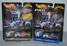 HOT WHEELS RACING LIMITED EDITION PIT CREW #6 GOLD CAR & BLUE CAR