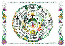 Wheel of the Year A3 wallchart poster planner notebook calendar pagan gardening