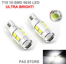 2x T10 10 SMD 5630 LED 501 W5W CANBUS PURE WHITE SIDE REVERSE LIGHTS BULBS UK