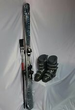 TWIN TIP SKI PKG, Primal 145cm new & Poles, Used Salomon Bdg, Dalbello Boots,fit